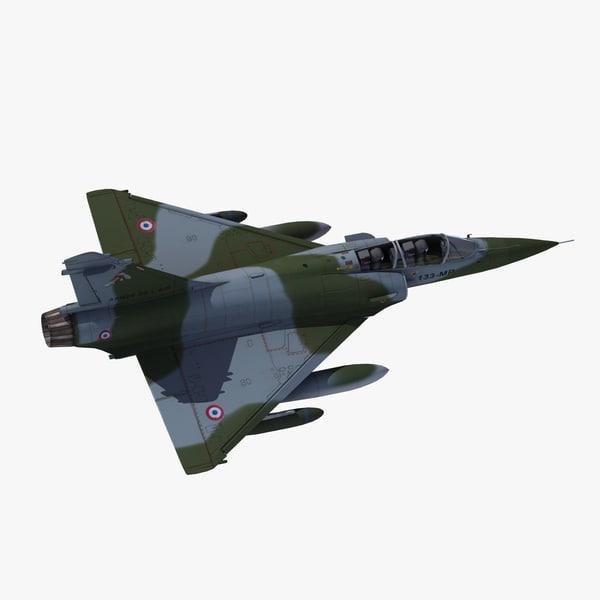 mirage2000d strike aircraft 3d model