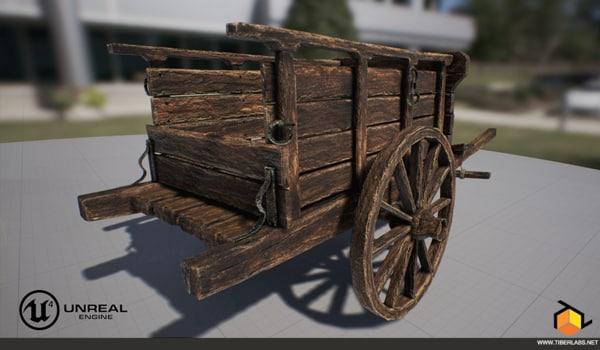 old cart 3d fbx