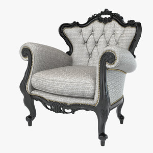 3ds max baroque wing chair