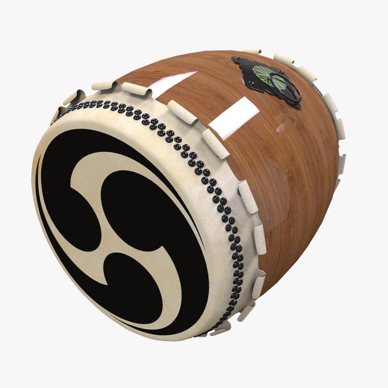 taiko japan drum 3d model