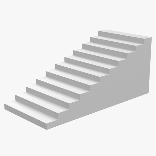 3ds white stairs