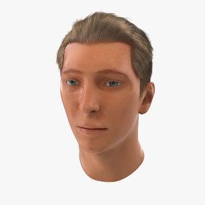 3d male head hair 2