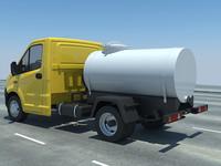 3d russian truck gazelle