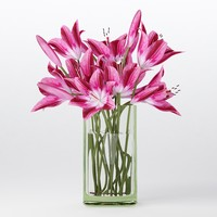 max bouquet pink lilies