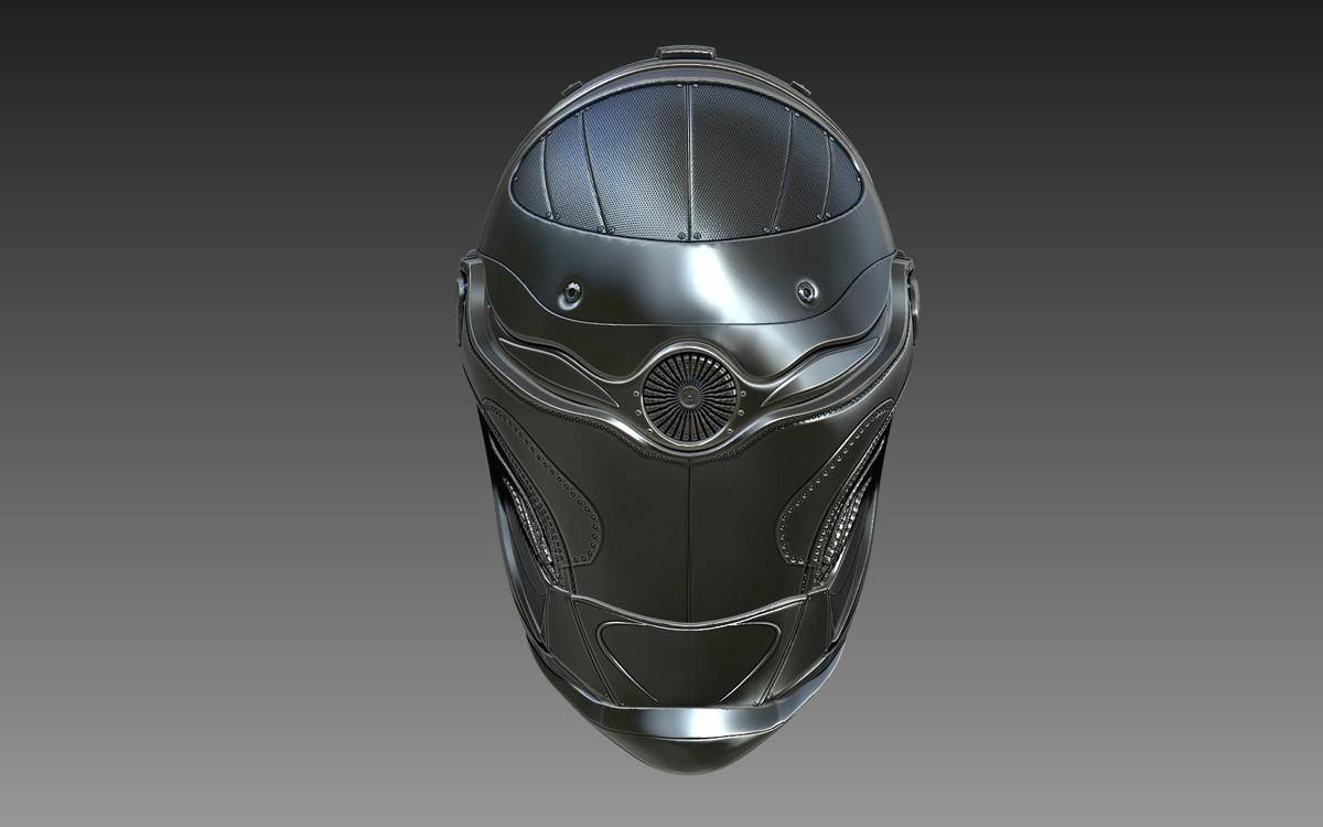 3d zbrush sci-fi helmet model