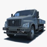russian truck gazelle 3d max