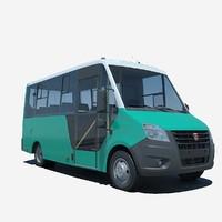 3d model russian gazelle bus