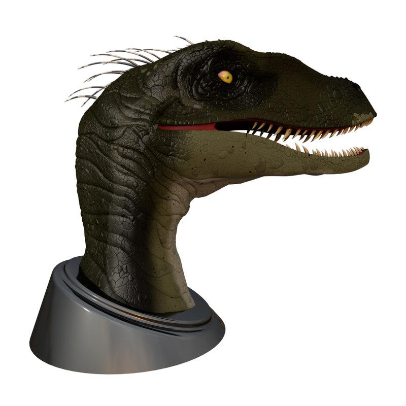 dinosaur head 3d obj