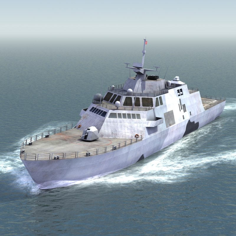 lcs-1 ship freedom uss 3d max