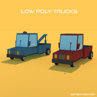2 trucks 3d model