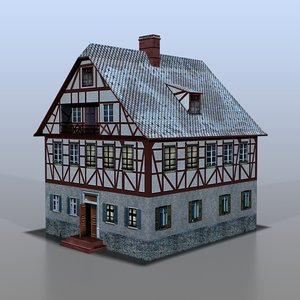 house german 3d obj