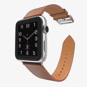 3d model apple watch hermes 42mm