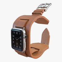 Apple Watch Hermes Cuff 42mm Stainless Steel Case Leather Band 2