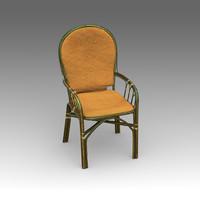 3d rotang armchair