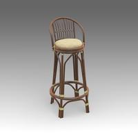 3d model rotang bar chair