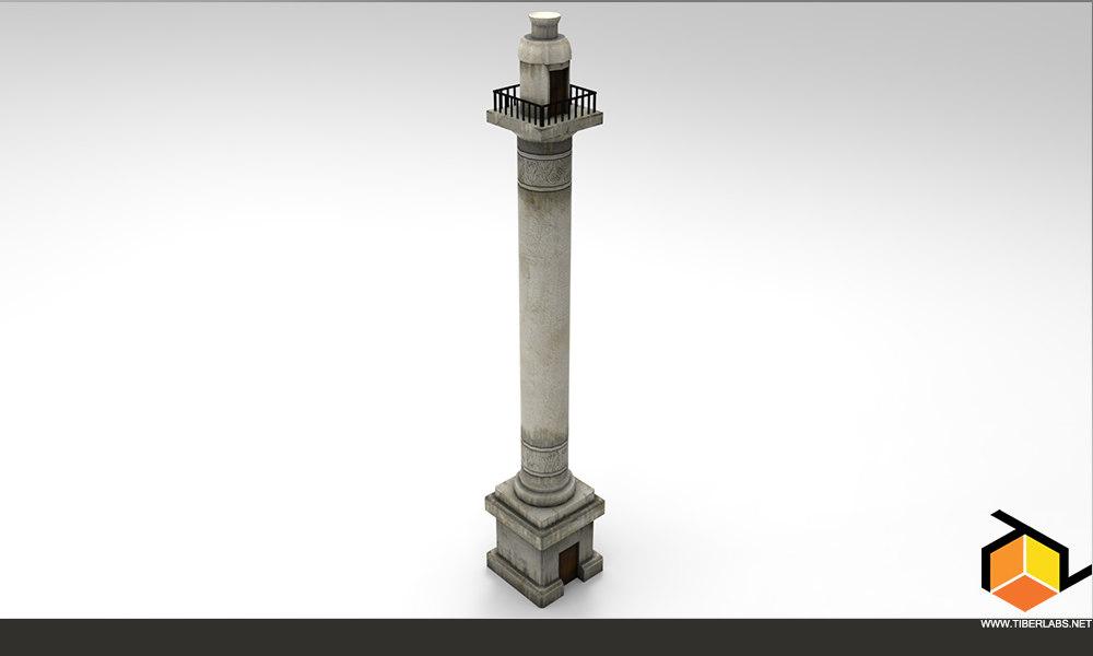 column pbr 3d model
