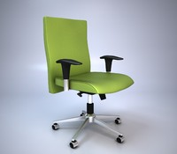 3d green office chair