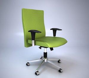 3d green office chair