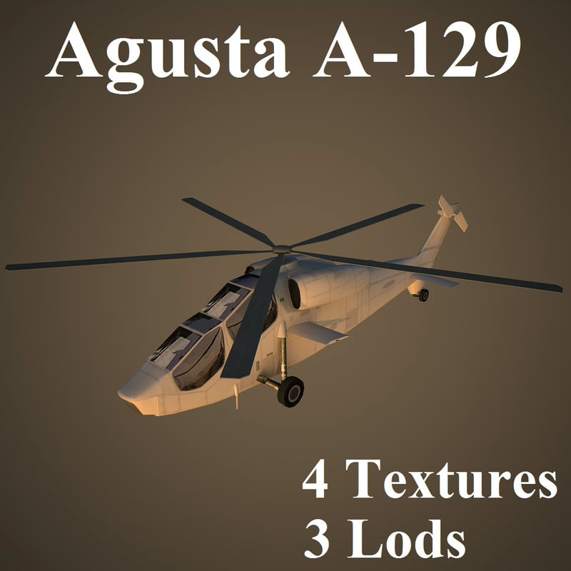 3d agusta attack helicopter