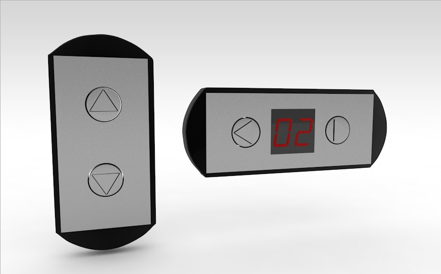 buttons elevator 3d model