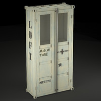 sea container wardrobe industrial 3d max