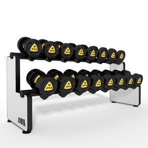 3dsmax dumbbell rack