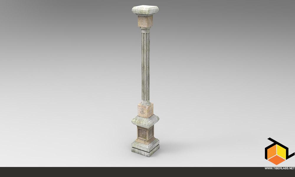 3d column pbr