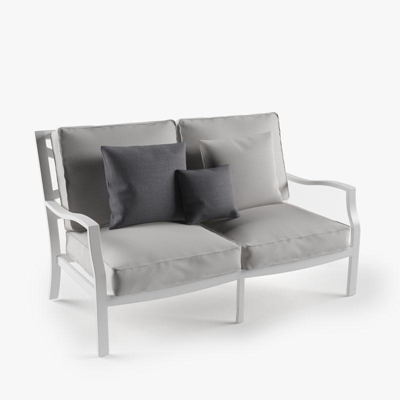 3d max longue sofa