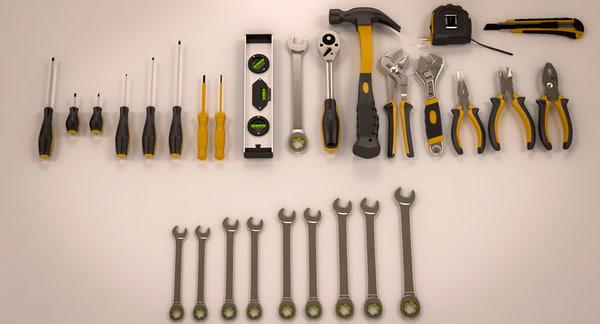 tools industrial kits s 3d max