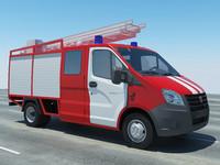 3d truck gazelle model