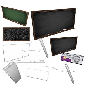 blackboard chalk eraser 3d fbx
