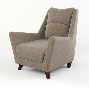 3d chair soft model