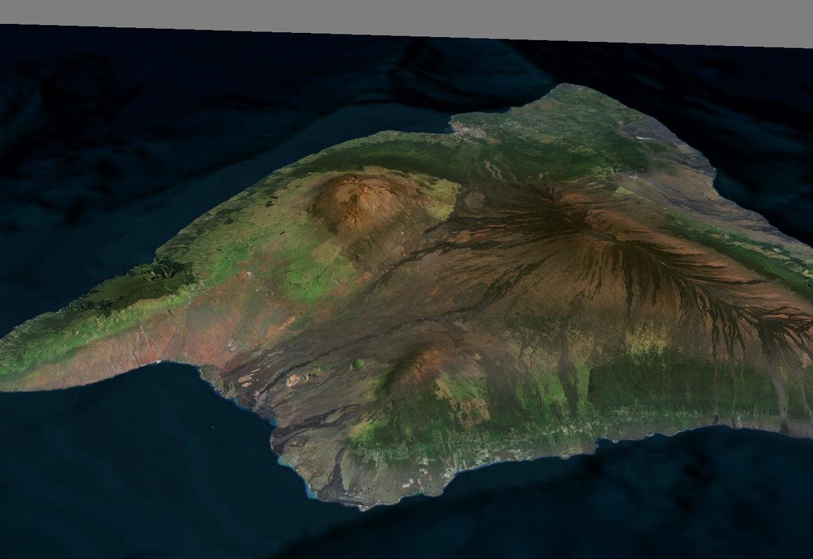 hawaii mauna loa 3d fbx