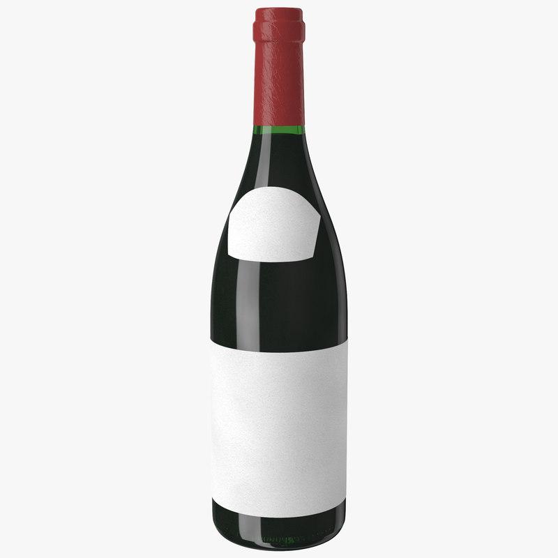 wine bottle beaujolais 3d model