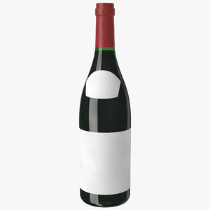 wine bottle beaujolais 3d model