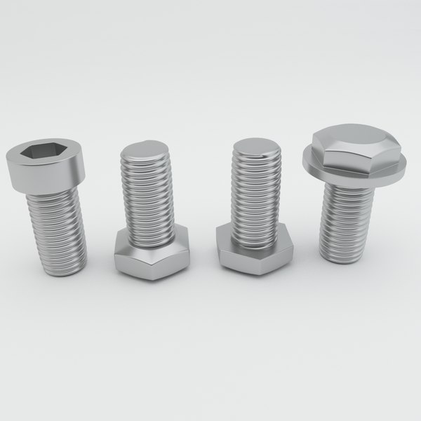 3d hexagonal bolt