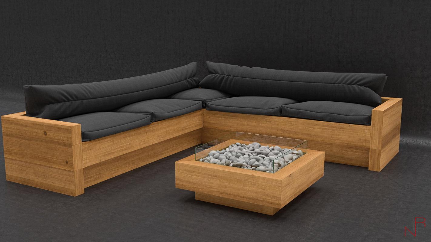 lounge place 3d max