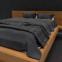 3d modern soft bed model