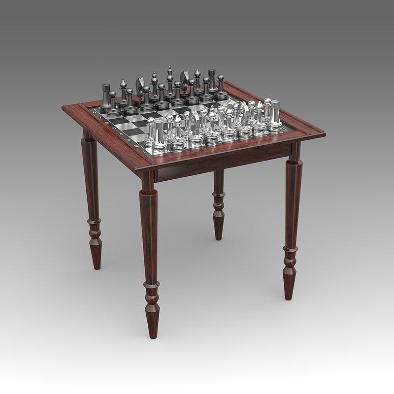 chess table 3d fbx