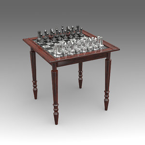 chess table 3d fbx