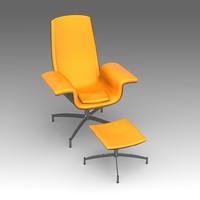 armchair swive ottomanka fbx