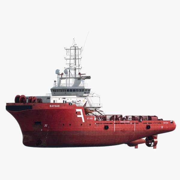 ahts vessel anchor handling 3d model