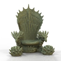 dragon throne obj