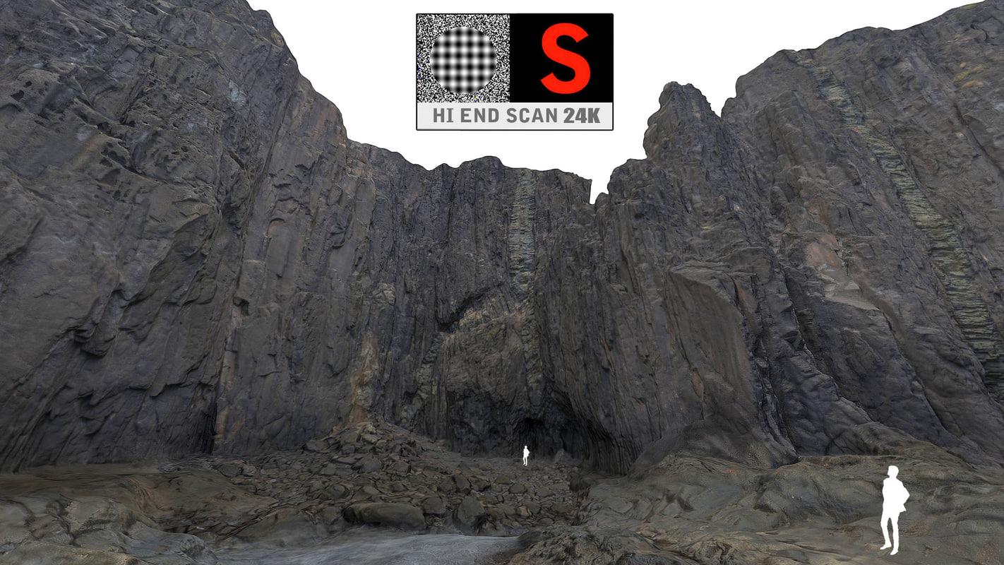giant rock cliffs ultra 3d model