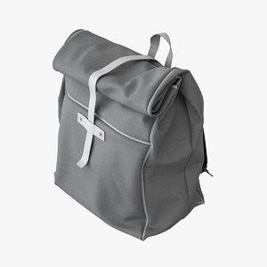 3d backpack canvas bag