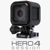 3d model gopro hero4 session