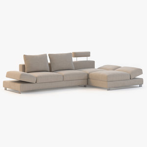modern sectional sofa 3d model
