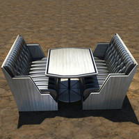 modern banquette table max