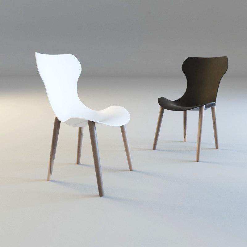 shell chair papilio obj