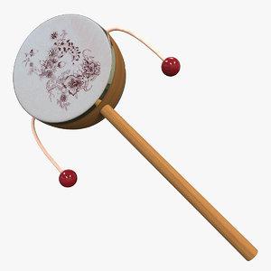 3ds max rattle drum hand shake